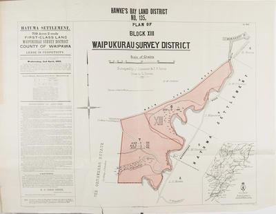 Plan, Hawke's Bay Land District No 135