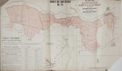 Plan, Hawke's Bay Land District No 176; Department of Lands & Survey; MacKay, John; Duncan, George; Marchant, J W A; Farnie, E H; Brook, T; Department of Lands & Survey; Wilson, James George