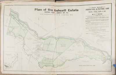 Plan, Ashcott Estate land for sale; Daily Telegraph; Baker, Horace