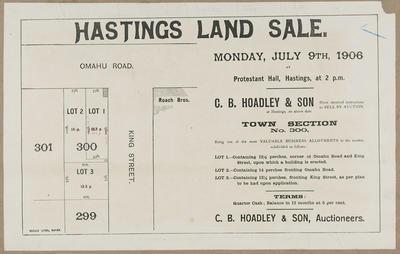 Plan, Hastings land sale