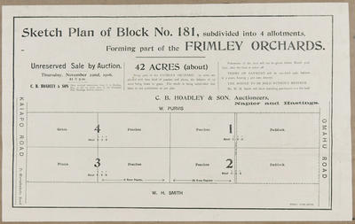 Plan, Frimley orchards land for sale