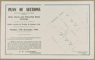 Plan, Hastings land sales