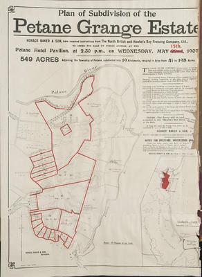 Plan, Petane Grange Estate