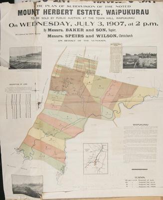 Plan, Mount Herbert Estate