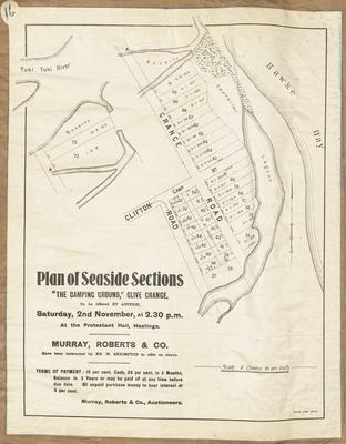 Plan, Seaside sections in Clive for sale; Herald Lithography