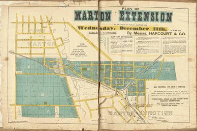 Plan, Marton extension, land for sale