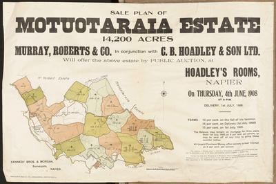 Plan, Motuotaraia Estate land for sale
