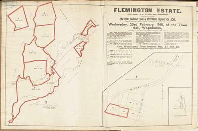 Plan, Flemington Estate land for sale