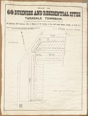Plan, Taradale business and residential sections for sale