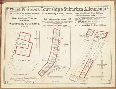 Plan, Waipawa township & suburban allotments for sale