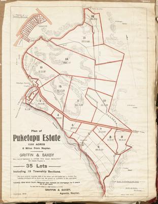 Plan, Puketapu Estate land for sale