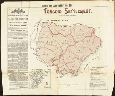 Plan, Hawke's Bay Land district No 251, Tangoio Settlement; MacKay, John; Department of Lands & Survey