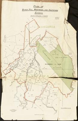 Plan, Birch Hill, Wantwood and Houtotara Estates