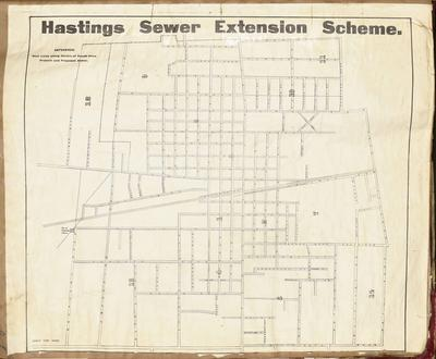 Plan, Hastings sewer extension scheme