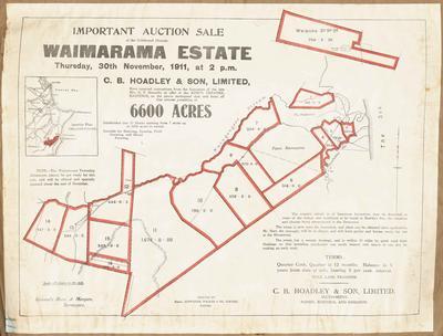 Plan, Waimarama Estate land for sale