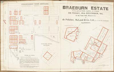 Plan, Braeburn Estate land for sale