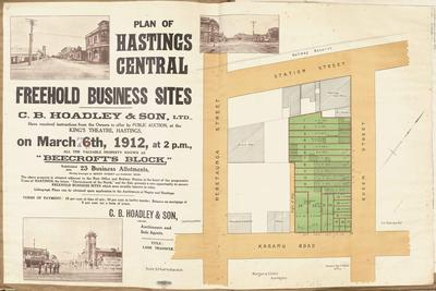Plan, Hastings central freehold land for sale