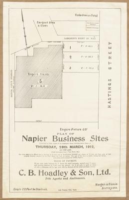Plan, Napier business sites for sale; Daily Telegraph; Morgan & Climie