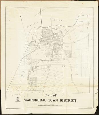 Cadastral map, Waipukurau town district; Trent, H; Murray, W D B; Humphries, Thomas; MacKay, John