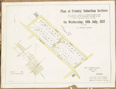 Plan, Frimley suburban sections for sale