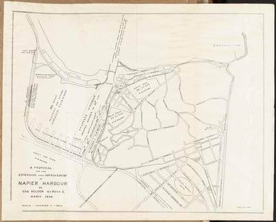 Plan, proposal for extension & improvement of the Napier Harbour