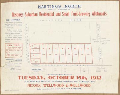 Plan, Hastings residential & fruit growing land for sale
