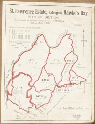 Plan, St Lawrence Estate land for sale