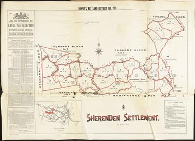 Map, Sherenden Settlement land for sale; MacKay, John