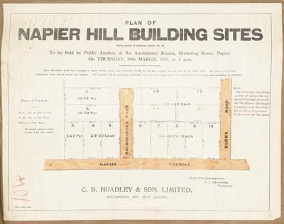Plan, Napier hill buildings for sale