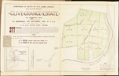 Plan, Clive Grange Estate land for sale