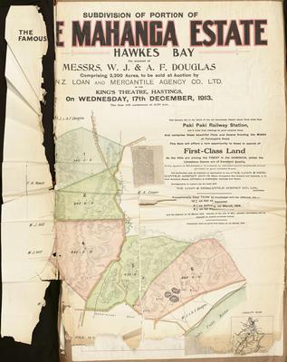 Plan, Te Mahanga Estate land for sale