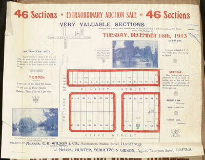 Plan, Hastings sections for sale