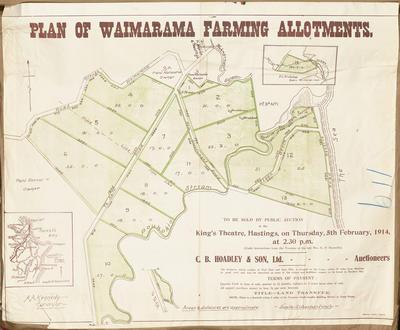 Plan, Waimarama farming allotments for sale