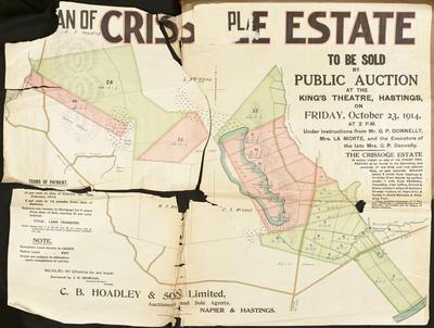 Plan, Crissoge Estate land for sale; Turnbull, Hickson & Gooder Ltd; Morgan, James Rice
