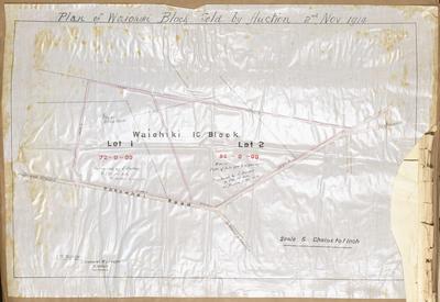 Plan, Waiohiki land block for sale
