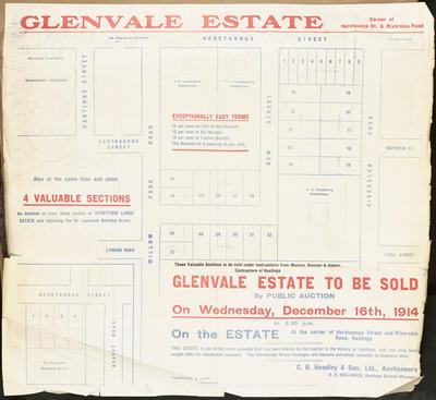 Plan, Glenvale Estate land for sale