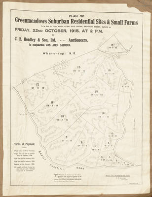 Plan, Greenmeadows suburban, residential sites and small farms for sale