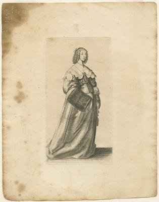 Lady with a Fur Muff on Right Hand