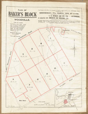 Plan, Bakers land block for sale