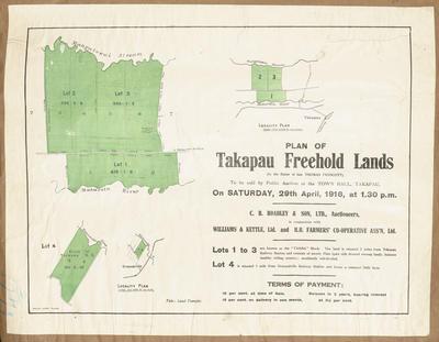 Plan, Takapau freehold lands for sale