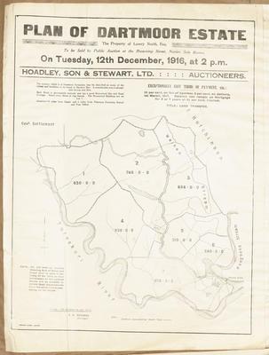 Plan, Dartmoor Estate land for sale