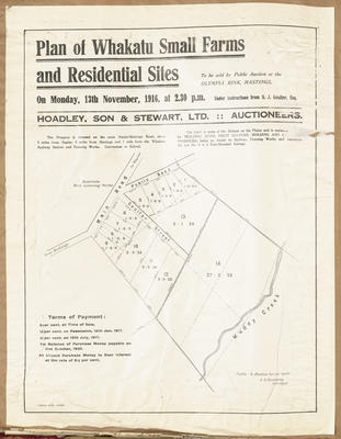 Plan, Whakatu small farms & residential sites for sale