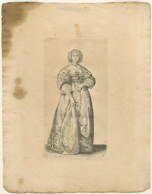 Lady with Ribbon around her Waist