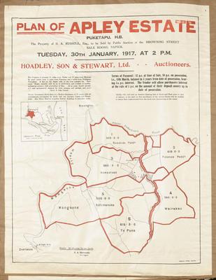 Plan, Apley Estate land for sale