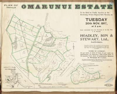 Plan, Ōmarunui Estate land for sale