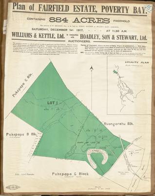 Plan, Fairfield Estate land for sale