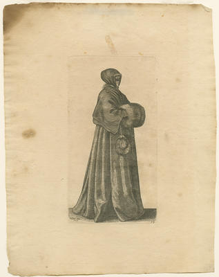 Lady with Mask, Cap and Muff