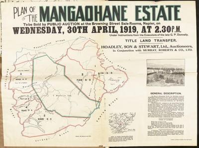 Plan, Mangaohane Estate land for sale
