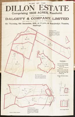 Plan, Dillon Estate land for sale; Kennedy & Nelson
