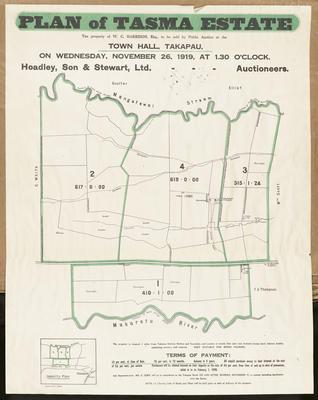 Plan, Tasma Estate land for sale; Herald Print